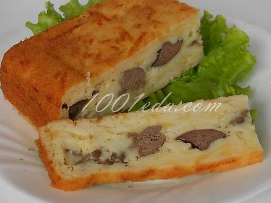 Кекс с куриной печенью