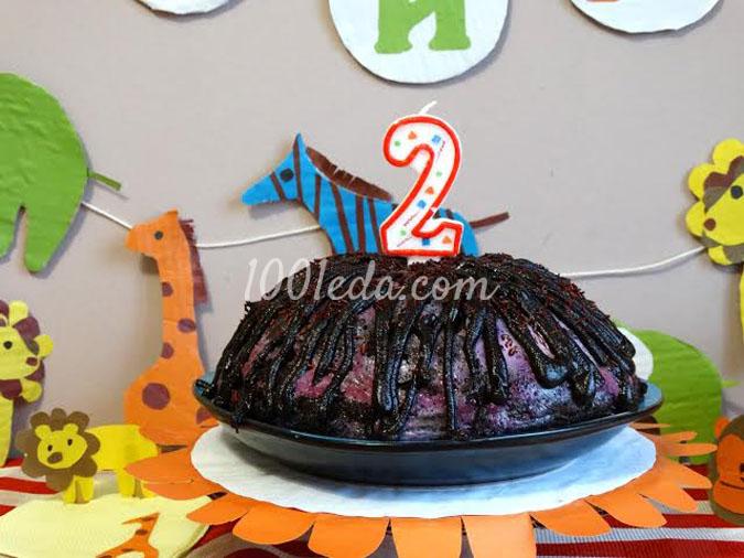 Чернично-манговый торт Пончо