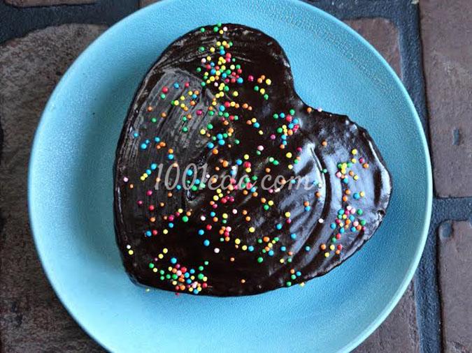 Манник в шоколадной глазури