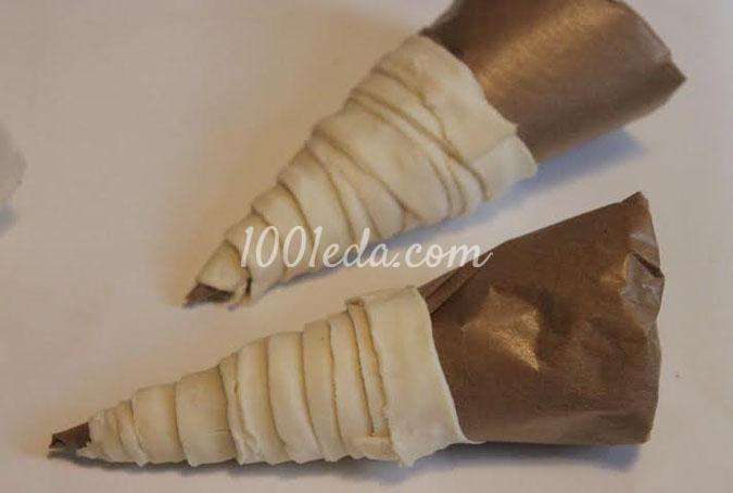 Слоеные трубочки с заварным кремом