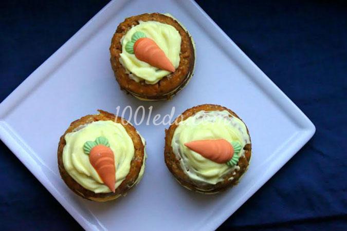 Морковные пирожные со сметанным кремом
