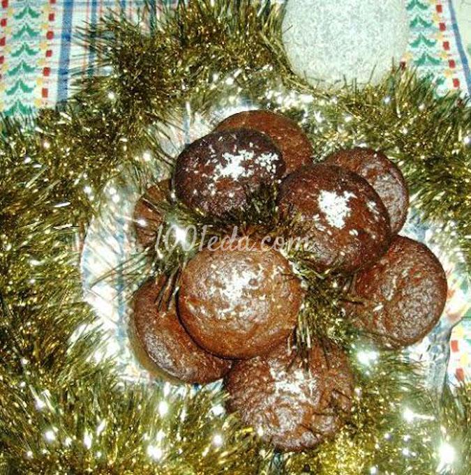 Рождественские кексы Шоколадно-цитрусовые