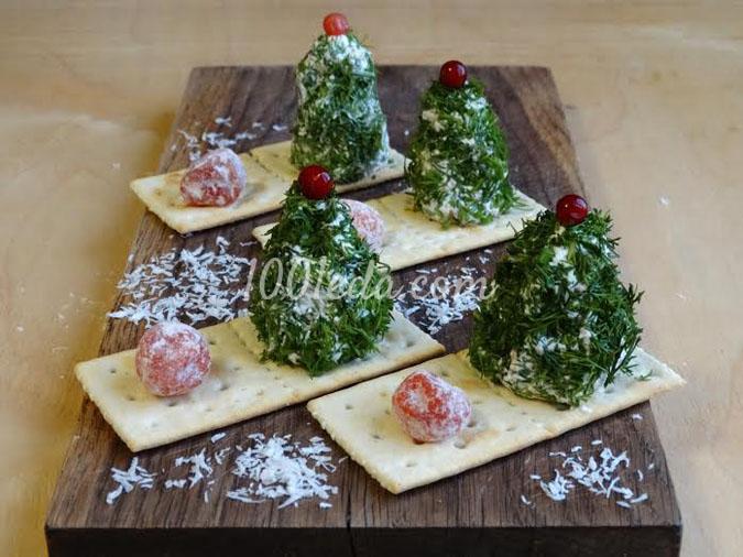 Закуска новогодняя Елочки: рецепт с пошаговым фото