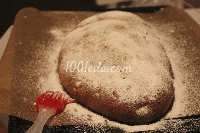 Рождественский штоллен с марципаном: рецепт с пошаговым фото