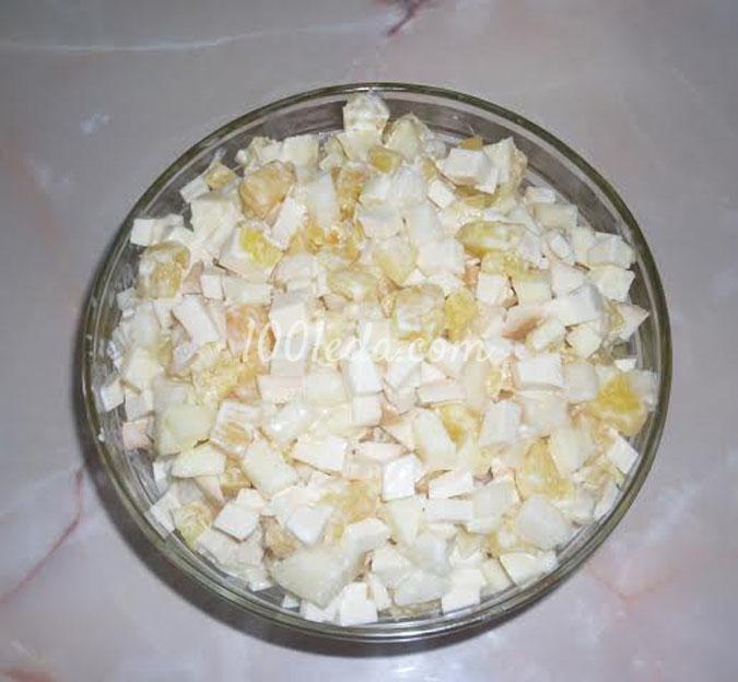 Новогодний фруктовый салат с сыром: рецепт с пошаговым фото