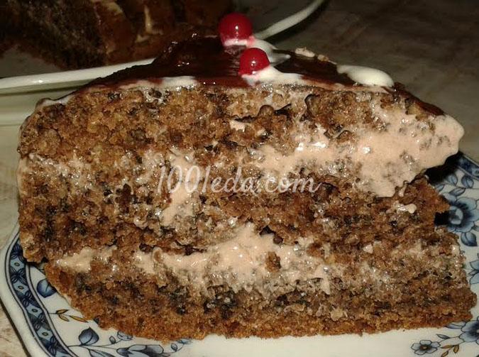 Торт Ржаной с орехами