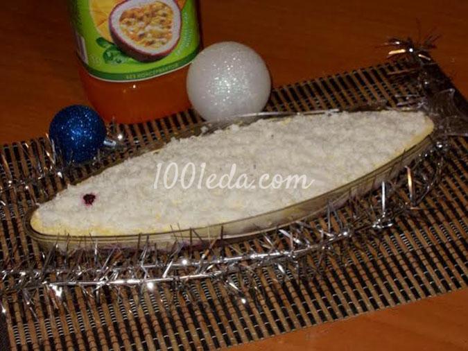 Салат Рыбка под снегом: рецепт с пошаговым фото