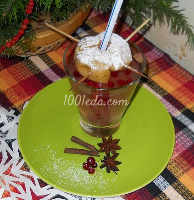 Сбитень-кисель с запеченным яблоком на десерт