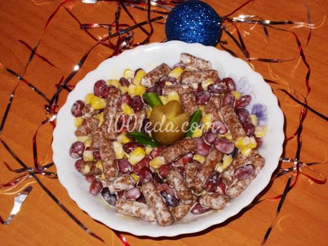 Простой салатик для новогодних праздников: рецепт с пошаговым фото