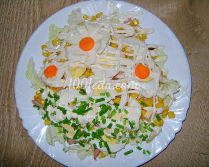 Салат праздничный пошаговым