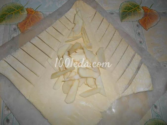 Слойка яблочная Ёлочка: рецепт с пошаговым фото