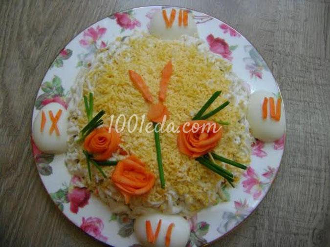 Салат с морковкой и шпротами