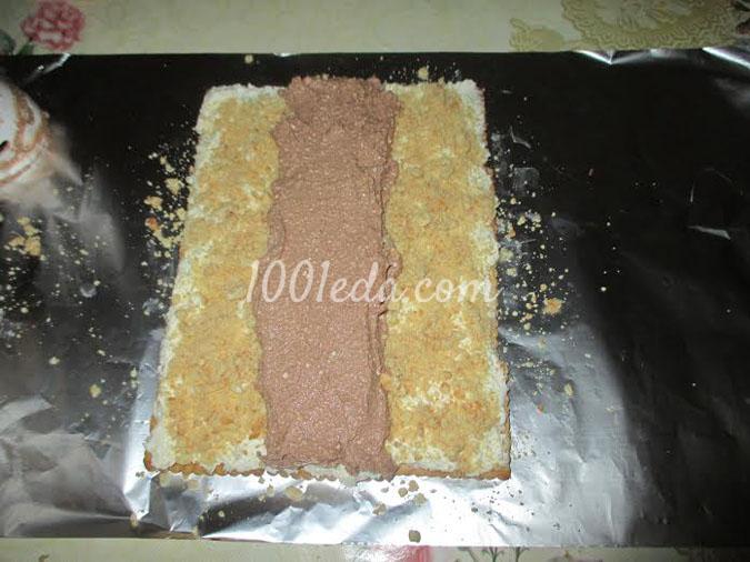 Необычный рулет с творогом и печеньем: рецепт с пошаговым фото