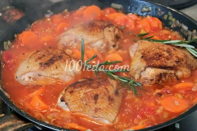 Овощное рагу с розмарином и куриными бедрами: рецепт с пошаговым фото