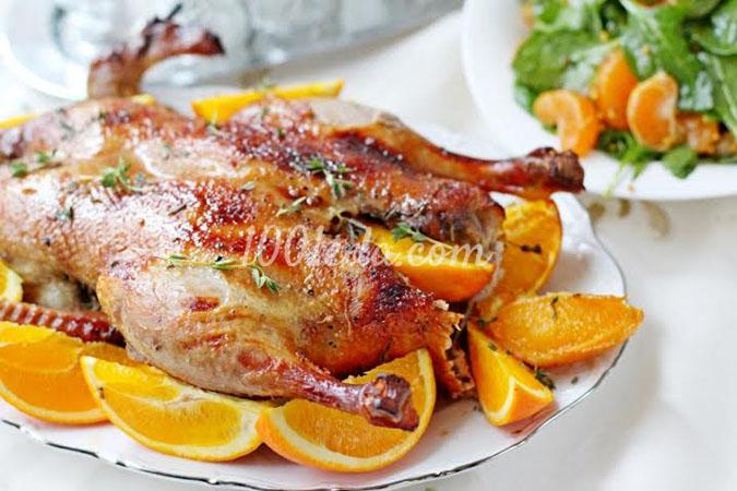 Утка с апельсином в рукаве в духовке пошаговый рецепт с