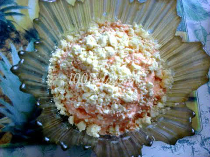 Острый салат из моркови с плавленным сырком