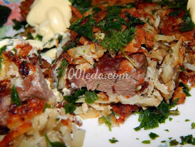 Отбивные из говядины под картофельной шубкой: рецепт с пошаговым фото