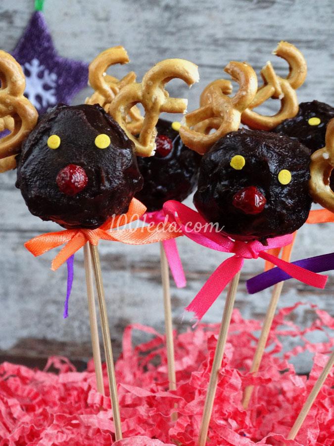 Кейк-попсы Рождественские олени: рецепт с пошаговым фото