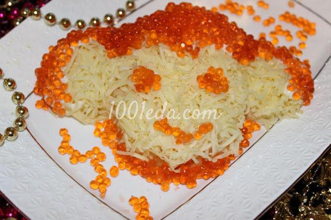 Салат слоеный Обезьянка-озорница: рецепт с пошаговым фото
