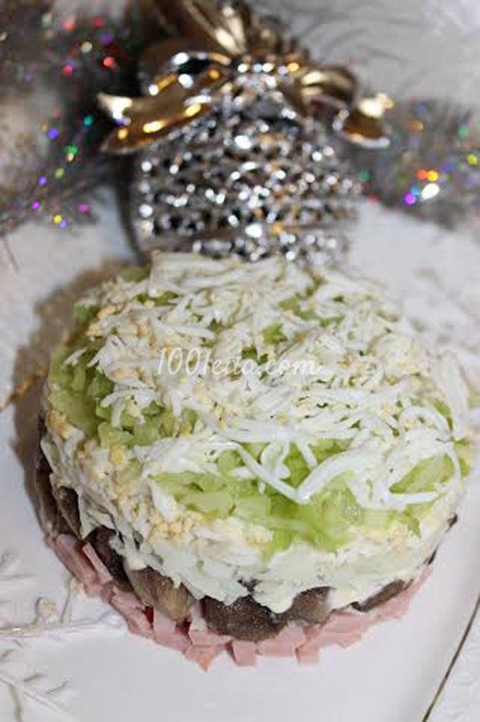 Слоеный салат Первый снег: рецепт пошаговым фото