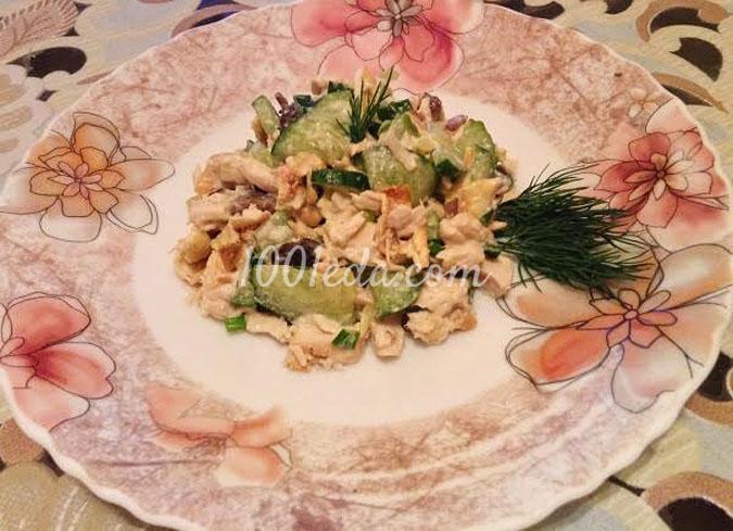 Салат Нежный с яичными блинчиками