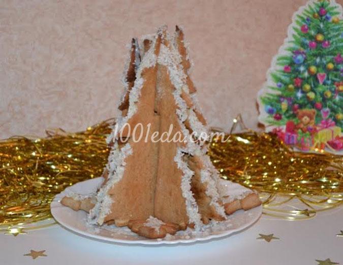 Пряничная Ёлка в снегу: рецепт с пошаговым фото
