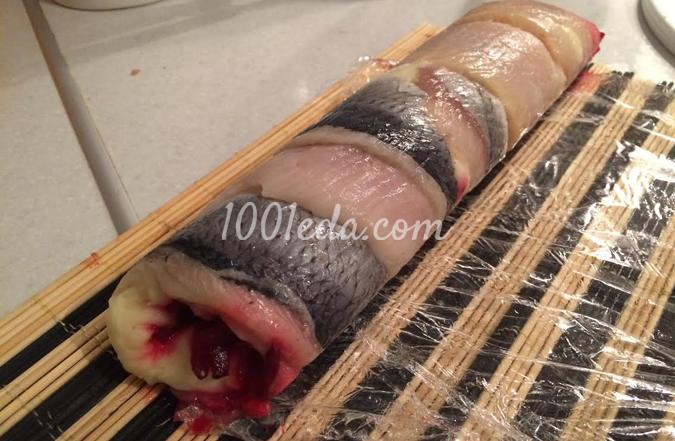 Роллы с сельдью Под водочку: рецепт с пошаговым фото