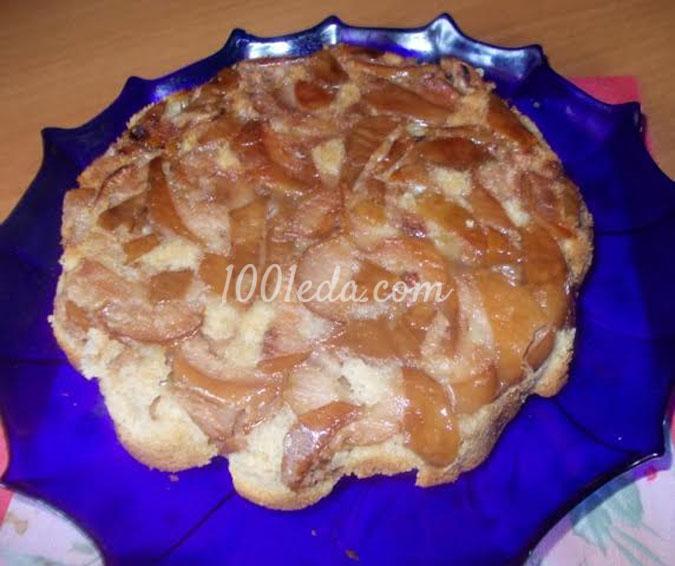 Шарлотка с замороженными яблоками и корицей: рецепт с пошаговым фото