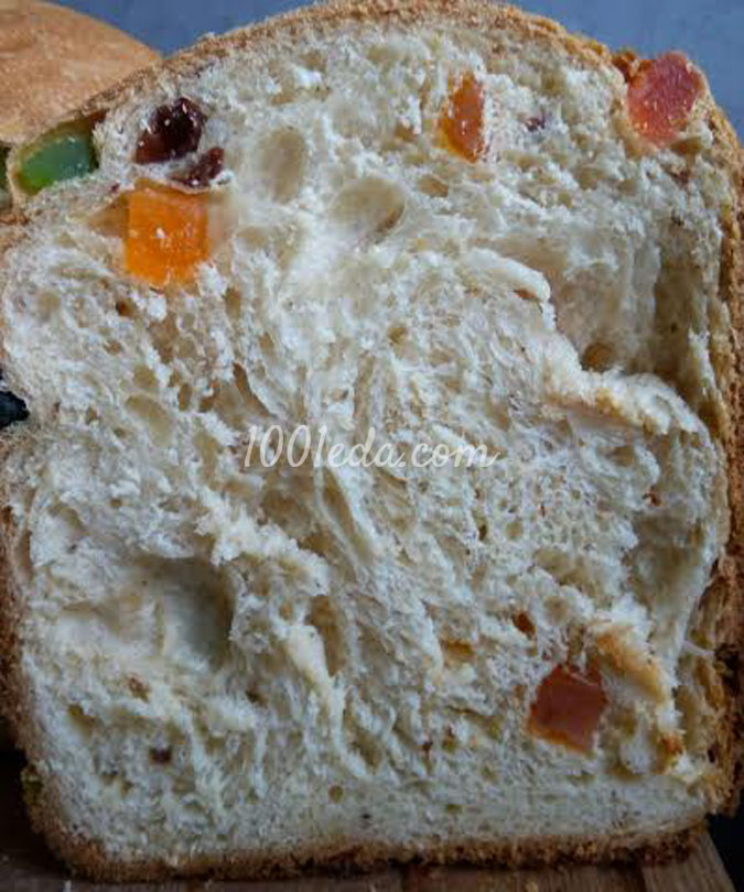 Белый хлеб с цукатами, изюмом и финиками: рецепт с пошаговым фото