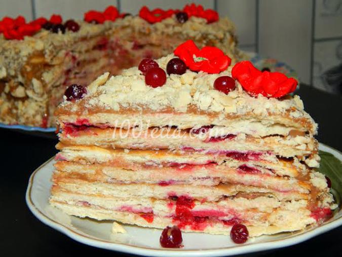 Торт Степка-Растрепка с брусникой: рецепт с пошаговым фото