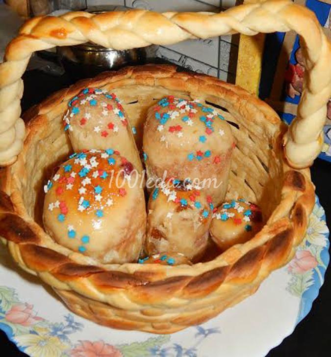 Корзиночка с сюрпризом для бабушки: рецепт с пошаговым фото