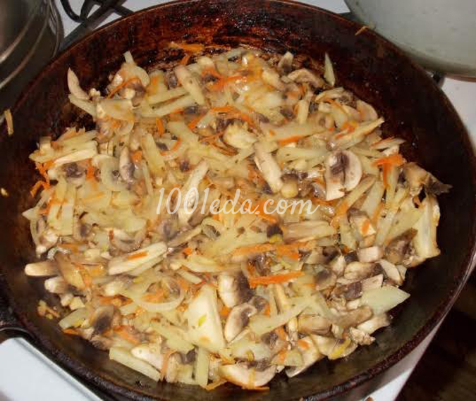 Курник с картофельно-грибной начинкой: рецепт с пошаговым фото