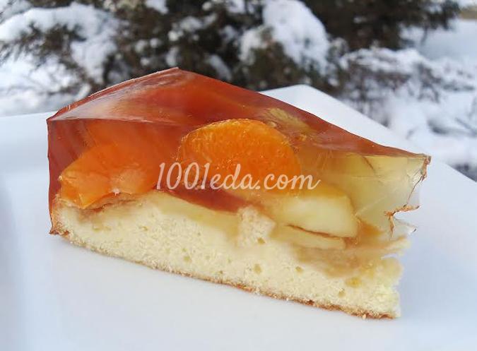 Пирог с яблоками и мандаринами: рецепт с пошаговым фото