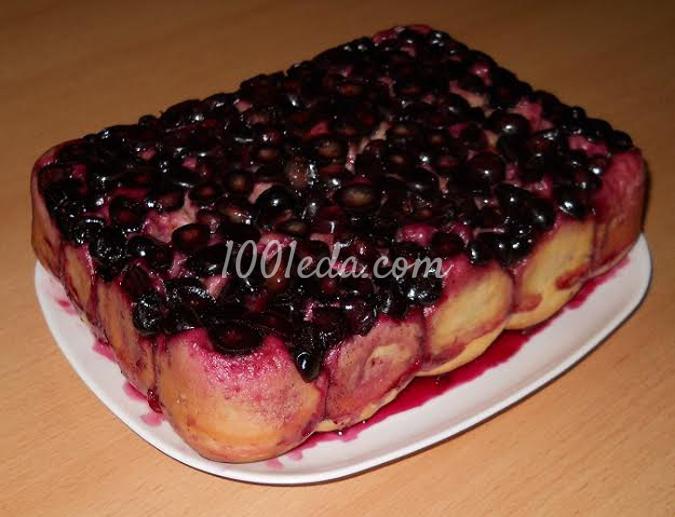 Дрожжевой пирог-перевертыш с виноградом в желе: рецепт с пошаговым фото