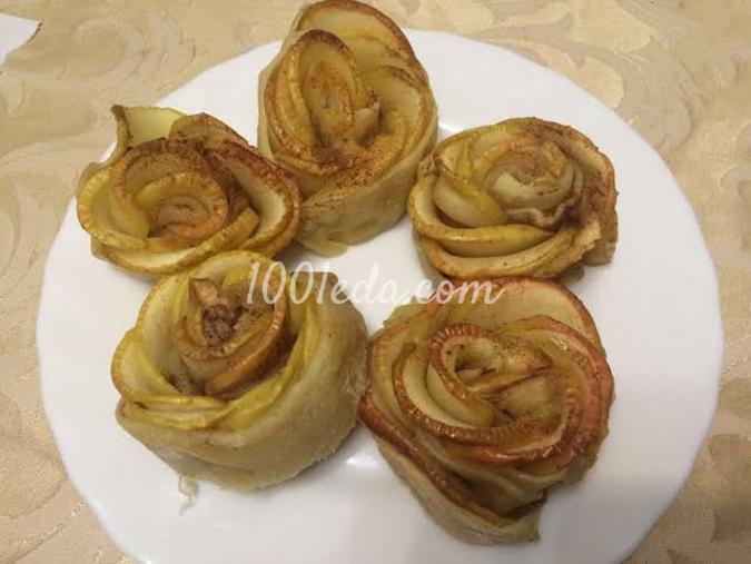 Розы из яблок: рецепт с пошаговым фото