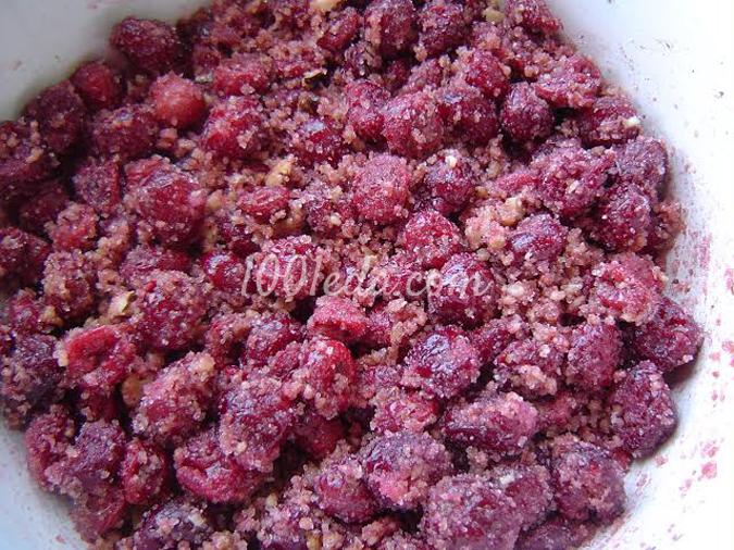 Кольцевой пирог с вишней и орехами: рецепт с пошаговым фото
