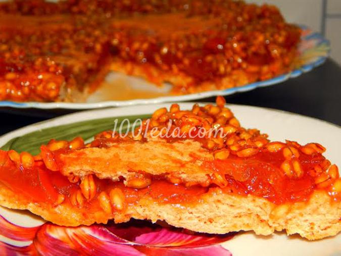 Пирог-перевертыш Золотой бисер: рецепт с пошаговым фото