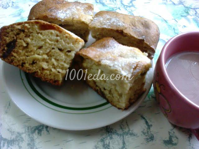 Пирог с грушевым вареньем на кефире