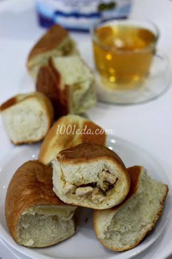 Пирог из булочек с курицей и луком в мультиварке: рецепт с пошаговым фото