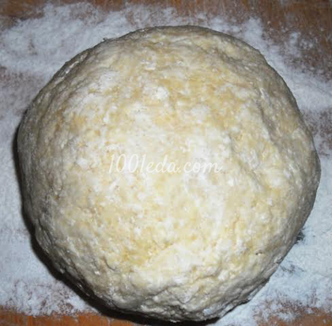 Пирог из творожного теста Вишня в желе с шоколадной крошкой: рецепт с пошаговым фото