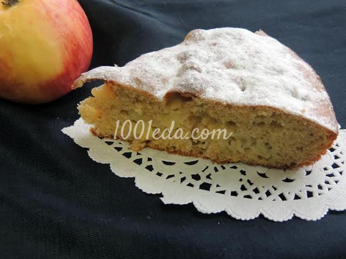 Пирог с яблоками на цельнозерновой муке