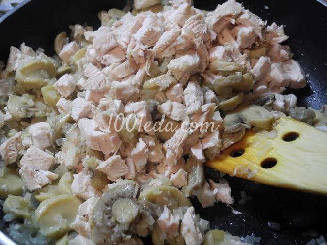Открытый пирог с курицей и грибами: рецепт с пошаговым фото