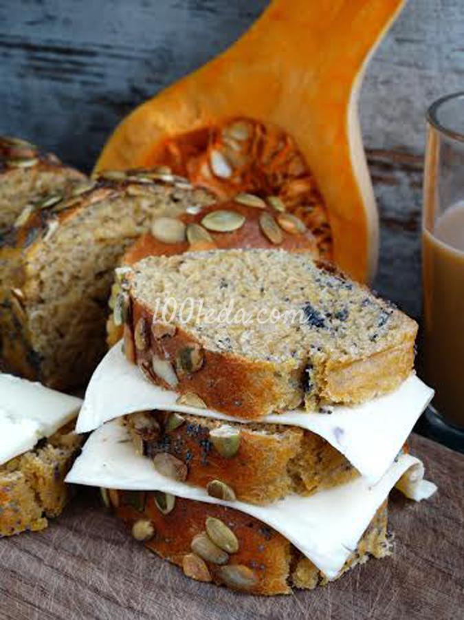 Цельнозерновой тыквенный хлеб с маком и семечками: рецепт с пошаговым фото