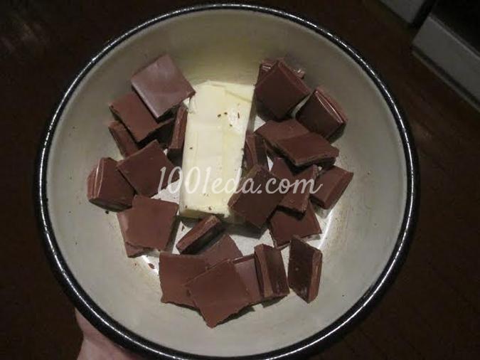 Шоколадно-банановый брауни-чизкейк: рецепт с пошаговым фото