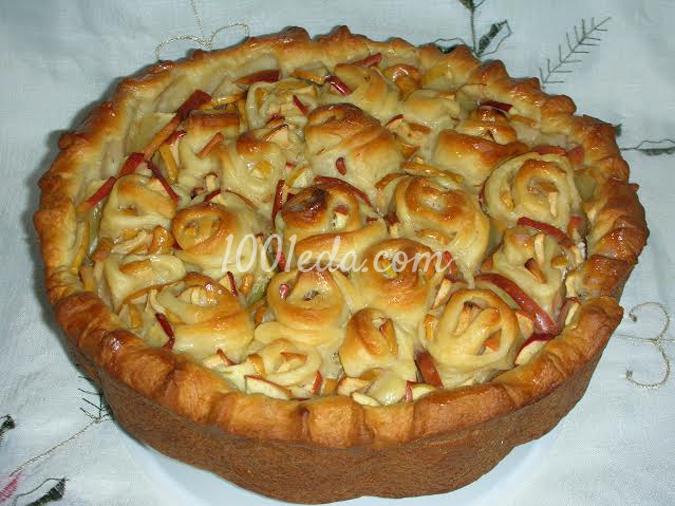 Пирог с яблоками пошаговый рецепт с фото