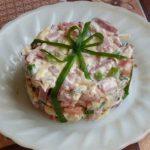 Салат из ветчины и картофеля «Фантазии».