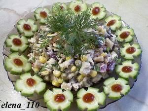рецепт приготовления Салат из ветчины и мяса «Валашский».
