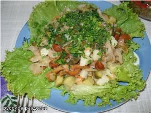 рецепт салата из лесных грибов