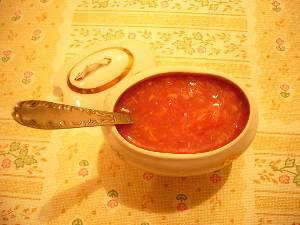 рецепт приготовления Соус из растительного масла и томата.