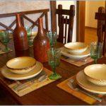 Фото сервировки стола к обеду: керамика